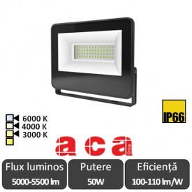 Aca Lighting - Proiector LED de Exterior 50W IP66 3000/4000 sau 6000 K Negru