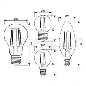 Bec LED Clasic Vivalux 2W 210lm E14 GF45