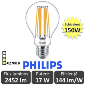 Bec LED Philips - Classic Filament LED 17-150W A67 E27 alb-cald