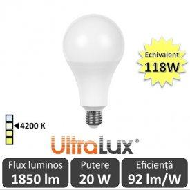 Bec LED Ultralux - LED Bulb 20W 4200K alb-neutru