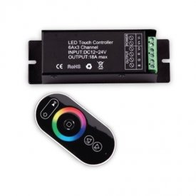 Controler RGB RF Touch, 3x6A, 12-24V