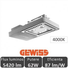 Gewiss - Proiector LED industrial Smart4LED 62W, alb-neutru