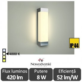 Nowodvorski FRASER LED 8W IP44 alb-neutru