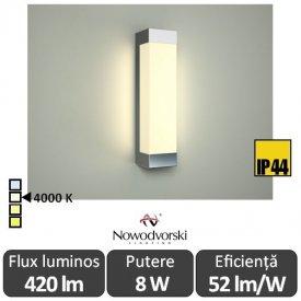Nowodvorski FRASER LED 8W IP44 alb-neutru
