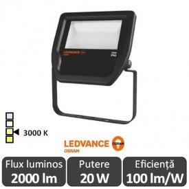 Osram Ledvance - Proiector LED de Exterior 20W IP65 3000K Alb-Cald BK