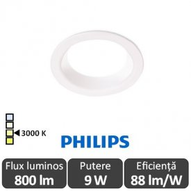 Philips Ledinaire DN060B LED8S/830 800lm PSU WH