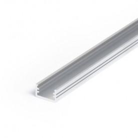 Profil LED aparent SLIM 8, aluminiu neanodizat, lungime 2m