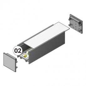 Profil LED aparent VARIO 30-02, aluminiu anodizat, lungime 2m