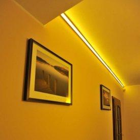 Profil LED de colț CORNER 27, aluminiu anodizat, lungime 2m