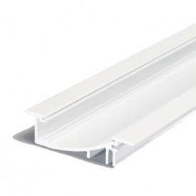 Profil LED încastrat FLAT 8, alb, lungime 3m