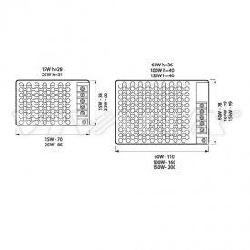 Sursa alimentare LED 25W 12V-2.08A IP20
