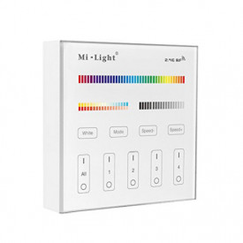Telecomanda perete MiBoxer wireless 4 zone RGBW/CCT