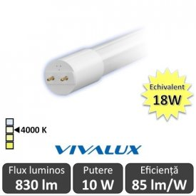 Tub LED Vivalux Royal LED 10W T8 600mm 4000K alb-neutru