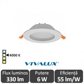 Vivalux CALIX LED 6W alb-neutru