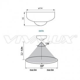 Vivalux DATA SR 36-W Senzor infraroșu