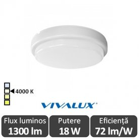 Vivalux ELLIS R Led 18W IP54 4000K Alb-Neutru