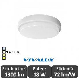 Vivalux ELLIS R Led 18W IP54 4000K Alb-Neutru