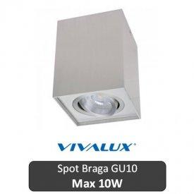 VIVALUX Spot Braga Patrat Aluminiu 1XGU10