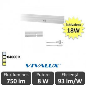 Vivalux Tub SPICA LED  8W T5 880mm 4000K alb-neutru