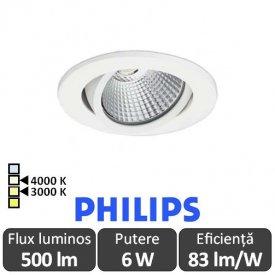 PHILIPS Spot ClearAccent 6W RS061B Alb-Cald/Alb-Neutru Orientabil