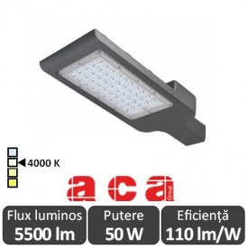 Aca Lighting - NOLA Corp iluminal stradal cu LED 50W 4000K alb-neutru