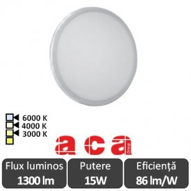ACA Lighting Panou Led Rotund Flexi Alb 15W