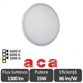 ACA Lighting Panou Led Rotund Flexi Alb 15W