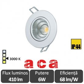ACA Lighting Spot Led Orientabil Alb 6W 3000K Alb-Cald