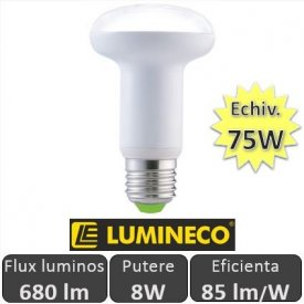 Bec LED NEXT R63 8W 680lm E27 230V alb-rece
