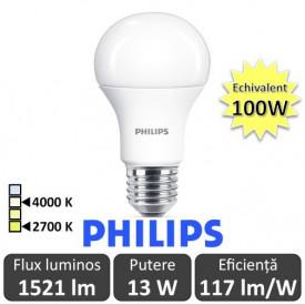 Bec LED Philips - CorePro LED bulb 3x13W A60 E27 alb-cald/alb-neutru