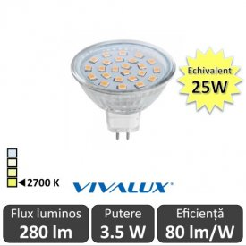 Bec LED Vivalux SPOT MR16 GU5.3 PR 3.5W