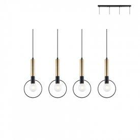 Lampa suspendata HL39974P94BB 4xE27