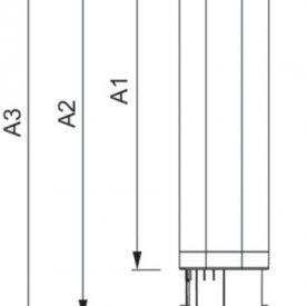 Philips bec LED PL-C 6.5W 4 pini 3000/4000K alb-cald/alb-neutru