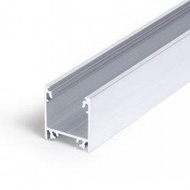 Profil LED aparent LINEA 20, aluminiu neanodizat, lungime 2m