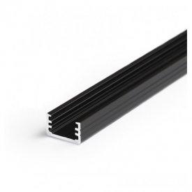 Profil LED aparent SLIM 8, negru, lungime 2m
