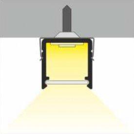 Profil LED aparent SMART 10, aluminiu neanodizat, lungime 2m