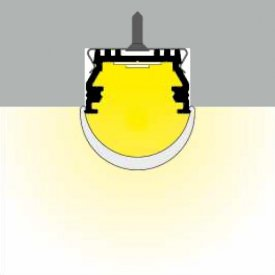 Profil LED aparent UNI 12, alb, lungime 2m