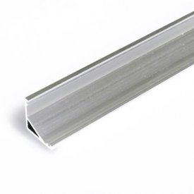 Profil LED de colț CABI 12, aluminiu neanodizat, lungime 2m