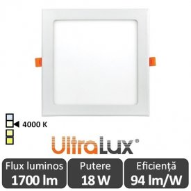 Ultralux Panou Led 18W Alb-Neutru LPS1840