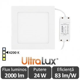 Ultralux Panou Led 24W Alb-Neutru LPSB2202442