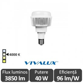 Vivalux AJAX LED 40W E27 4000K ( Alb-Neutru )