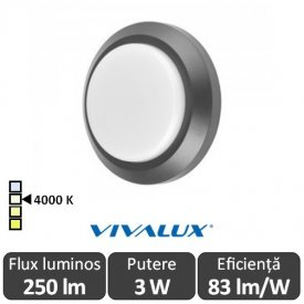 Vivalux ALVIA RD Led 3W IP65 4000K Alb-Neutru