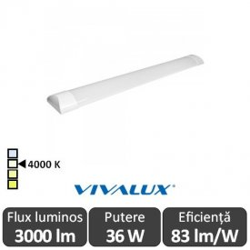 Vivalux FLAT LED 36W 1,2M 4000K Alb-Neutru