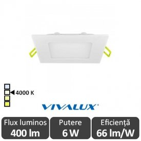 Vivalux Panou GRID LED Panel 6W CL/W 4000K Alb