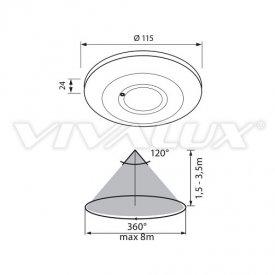 Vivalux SIERRA MW18/S Senzor microunde