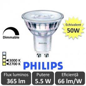 Spot LED Philips - Classic MV 5.5-50W GU10 Dimabil 2700/3000K