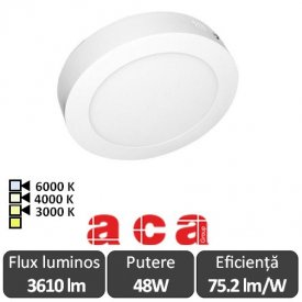 Aca Lighting Panou Led Rotund Arca 48W