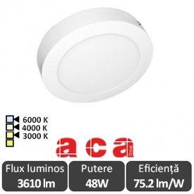 Aca Lighting Panou Led Rotund Arca 48W