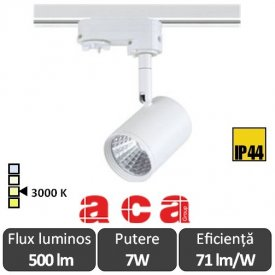 ACA Reflector interior sina Zuno 7W 3000K Alb/Negru/Gri