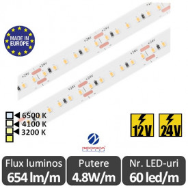 Bandă LED flexibilă SMD2216 4.8W/m IP20 60led/m 12-24V
